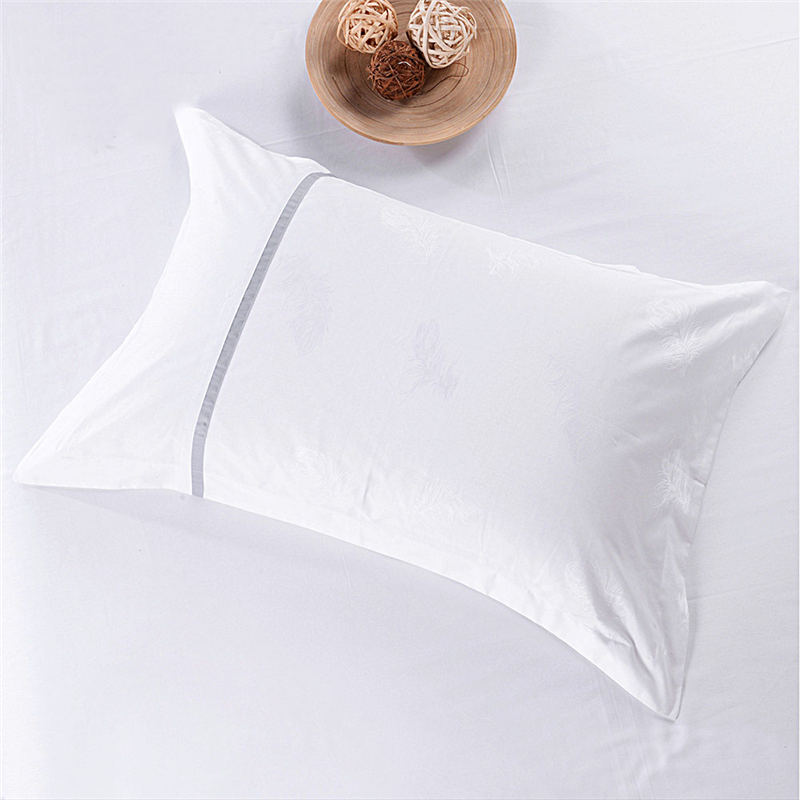 Luxuriöses Twin 300 Thread Count 100% Cotton White 3PCS Hotelwäsche