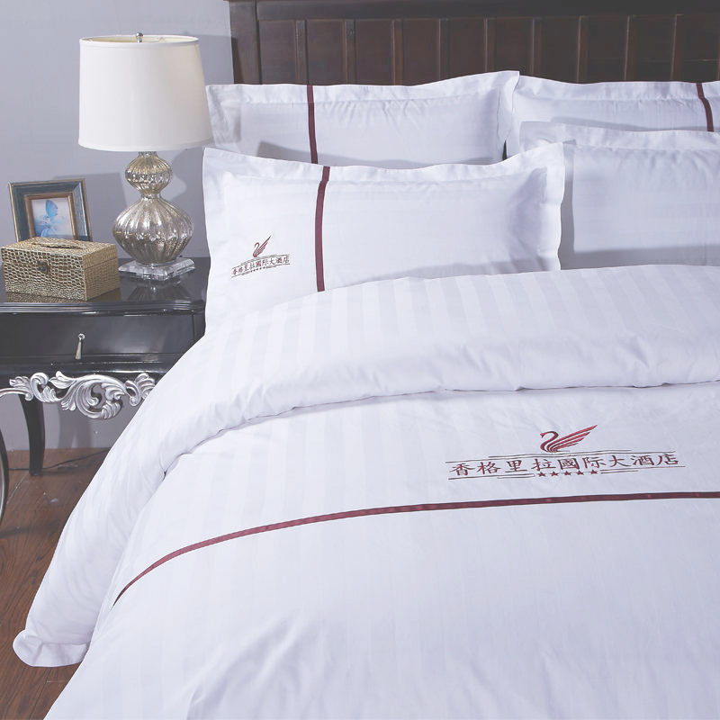 Gute Qualität Professionelle Soft White Polycotton Hotel California King Bedding